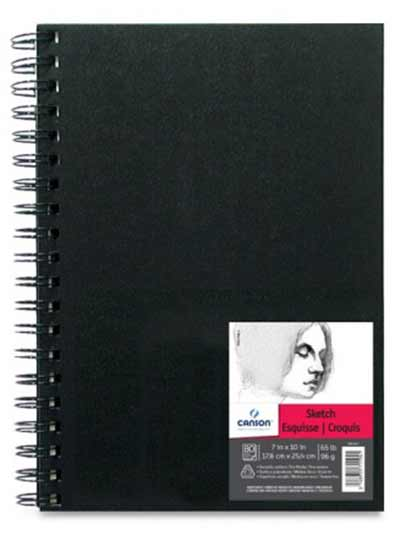 "Canson Field Sketch Book Wire Bound 6"" x 6"" (80 sheets, 65lb)"