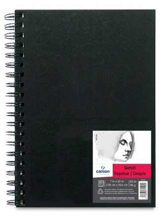 "Canson Field Sketch Book Wire Bound 7"" x 10"" (80 sheets, 65lb)"