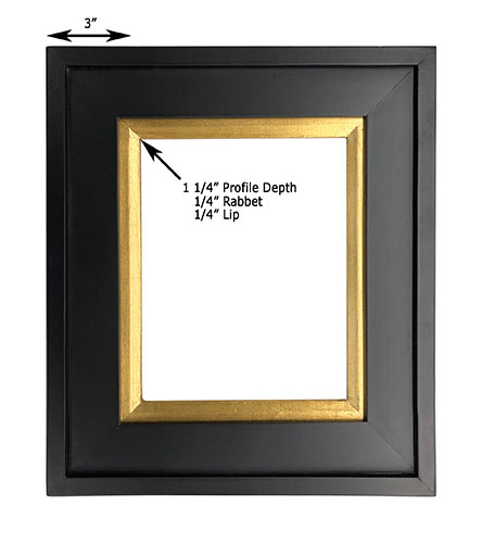 Series 211 Plein Air Frame Black With Gold Leaf Liner 9