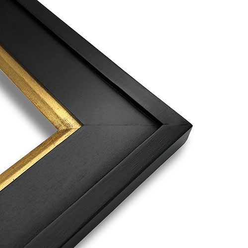 Series 211 Plein Air Frame Black With Gold Leaf Liner 15
