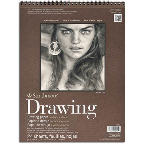 "Strathmore 400 Series Drawing Pad 9"" x 12"" - (24 sheets, 80lb) Medium Spiral Bound"