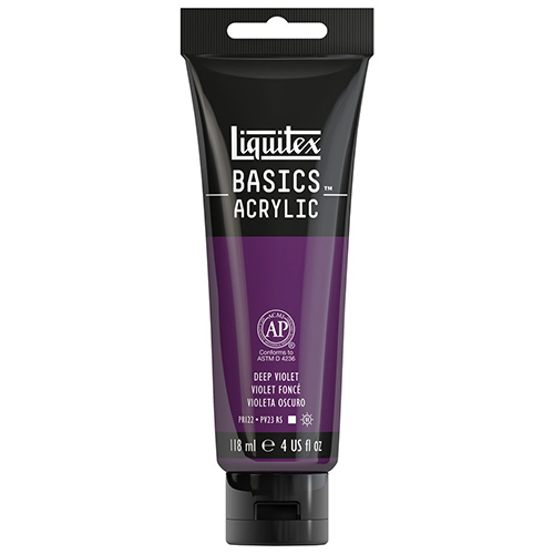 Liquitex Basics Acrylic Paint - (4oz/118ml) Deep Violet