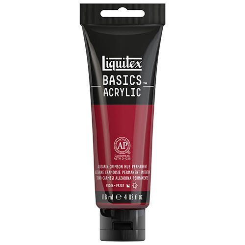Liquitex Basics Acrylic Paint - (4oz/118ml) Alizarin Crimson Hue