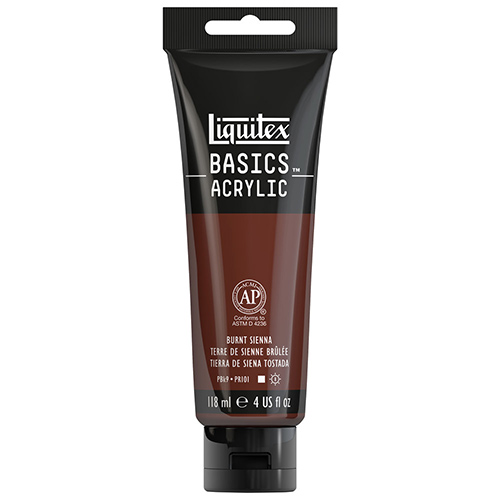 Liquitex Basics Acrylic Paint - (4oz/118ml) Burnt Sienna