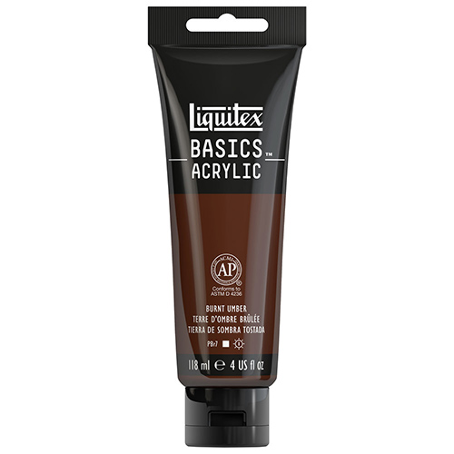 Liquitex Basics Acrylic Paint - (4oz/118ml) Burnt Umber