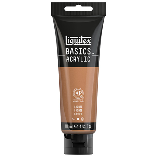 Liquitex Basics Acrylic Paint - (4oz/118ml) Iridescent Bronze