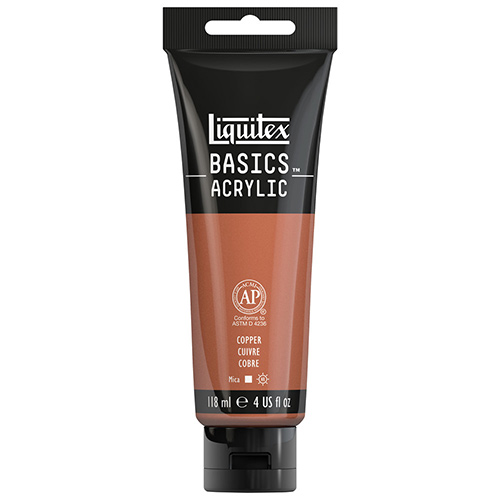 Liquitex Basics Acrylic Paint - (4oz/118ml) Iridescent Copper