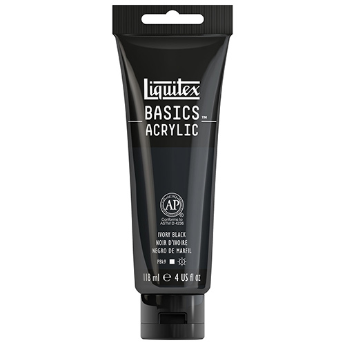 Liquitex Basics Acrylic Paint - (4oz/118ml) Ivory Black