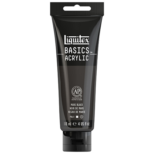 Liquitex Basics Acrylic Paint - (4oz/118ml) Mars Black