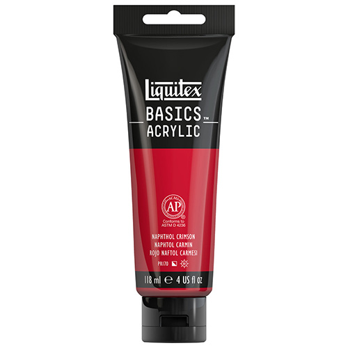 Liquitex Basics Acrylic Paint - (4oz/118ml) Naphthol Crimson