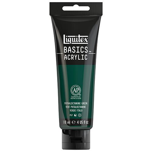 Liquitex Basics Acrylic Paint - (4oz/118ml) Phthalocyanine Green