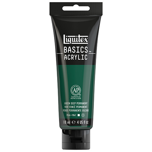 Liquitex Basics Acrylic Paint - (4oz/118ml) Permanent Green Deep