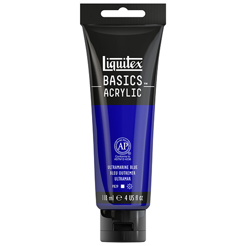 Liquitex Basics Acrylic Paint - (4oz/118ml) Ultramarine Blue