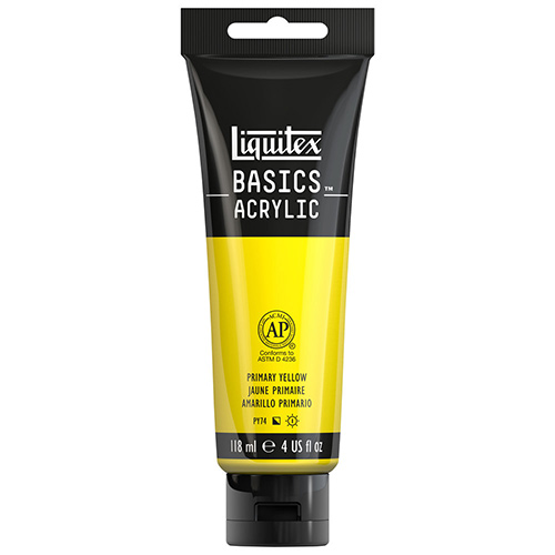 Liquitex Basics Acrylic Paint - (4oz/118ml) Primary Yellow