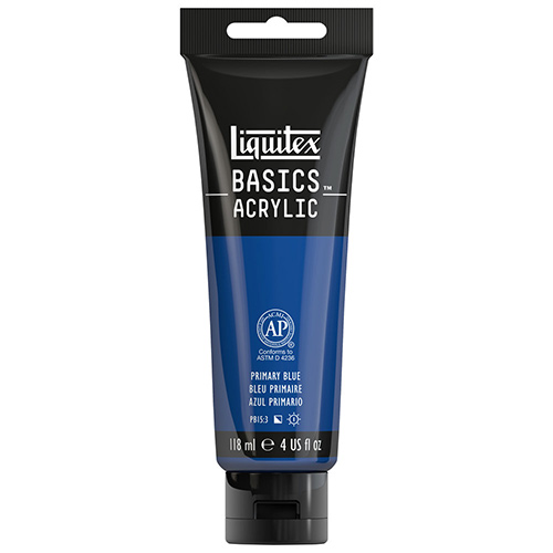 Liquitex Basics Acrylic Paint - (4oz/118ml) Primary Blue