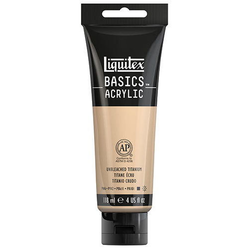 Liquitex Basics Acrylic Paint - (4oz/118ml) Unbleached Titanium