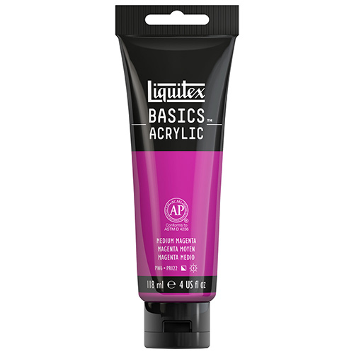Liquitex Basics Acrylic Paint - (4oz/118ml) Medium Magenta