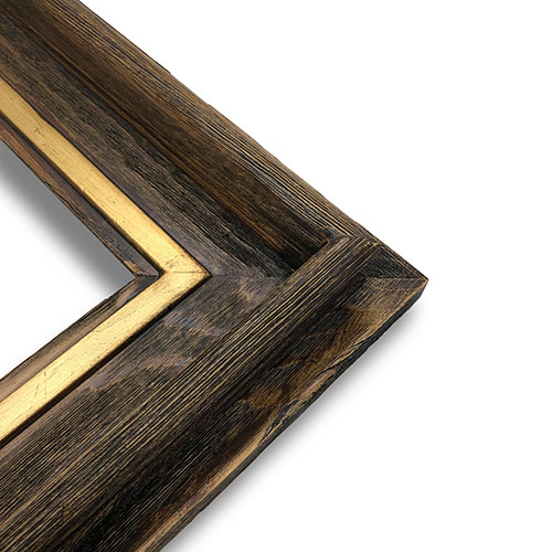 "Series Gallery Deluxe Frame Walnut with Gold Accent Liner - 16"" x 20"""