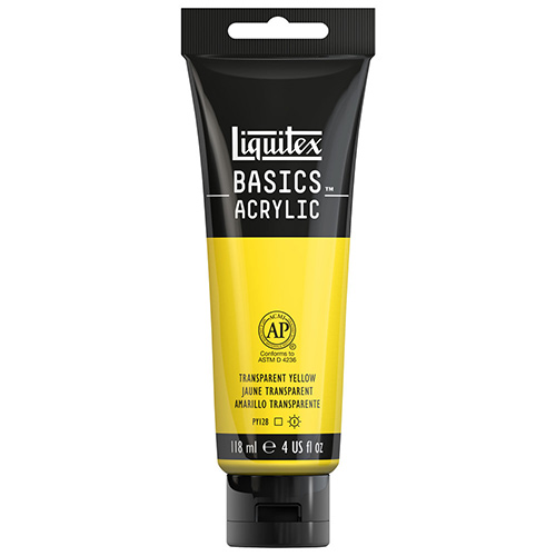 Liquitex Basics Acrylic Paint - (4oz/118ml) Transparent Yellow