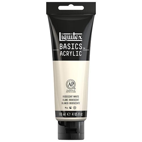 Liquitex Basics Acrylic Paint - (4oz/118ml) Iridescent White