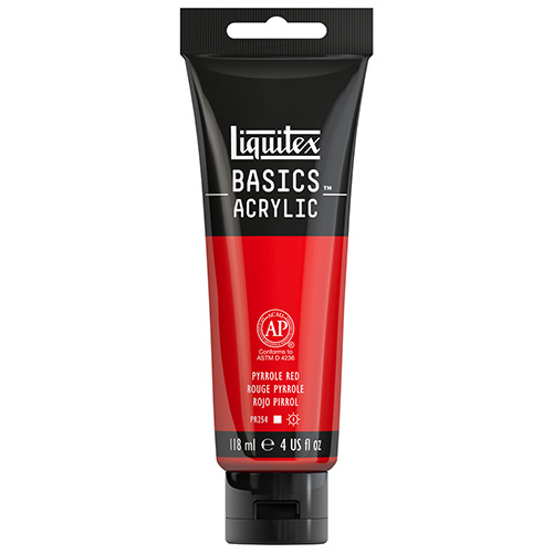 Liquitex Basics Acrylic Paint - (4oz/118ml) Pyrrole Red