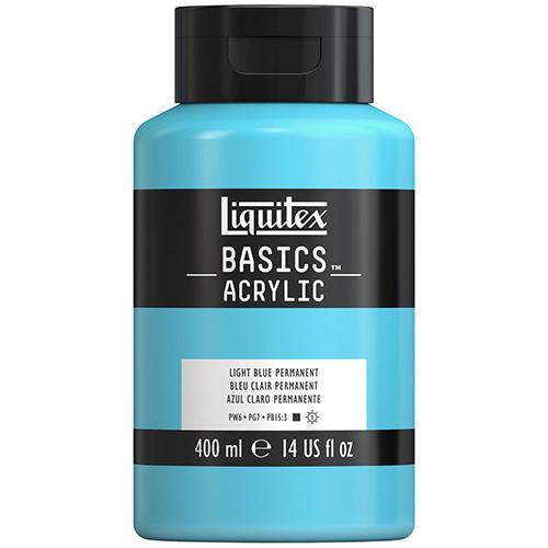 Liquitex Basics Acrylic Paint - (13.5oz/400ml) Light Blue Permanent