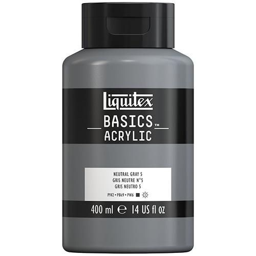 Liquitex Basics Acrylic Paint - (13.5oz/400ml) Neutral Gray Value 5