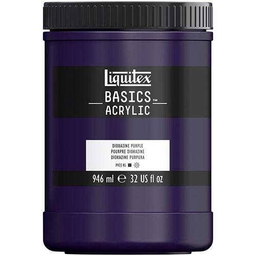 Liquitex Basics Acrylic Paint - (32oz/946ml) Dioxazine Purple