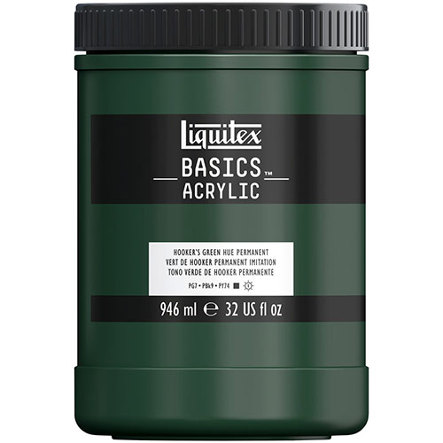 Liquitex Basics Acrylic Paint - (32oz/946ml) Hookers Green