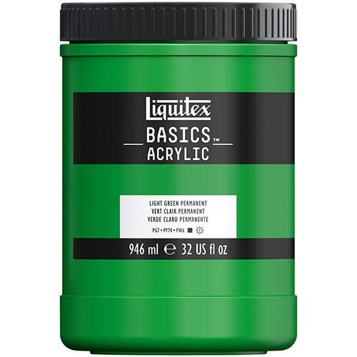 Liquitex Basics Acrylic Paint - (32oz/946ml) Light Green Permanent