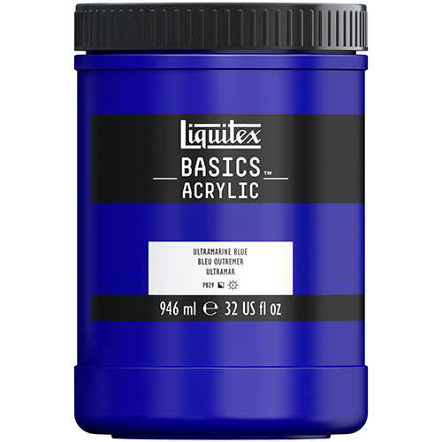 Liquitex Basics Acrylic Paint - (32oz/946ml) Ultramarine Blue