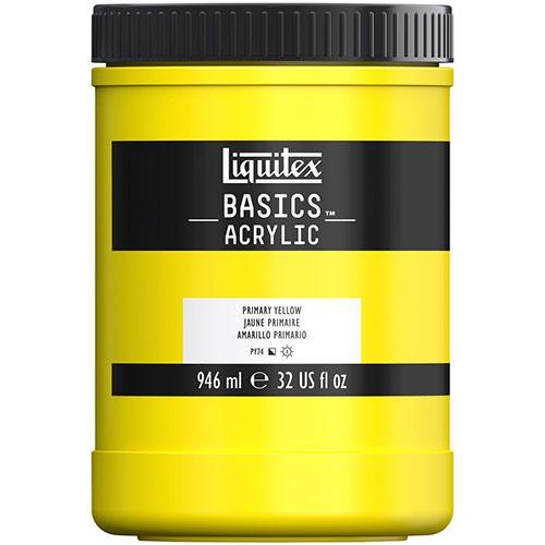Liquitex Basics Acrylic Paint - (32oz/946ml) Primary Yellow