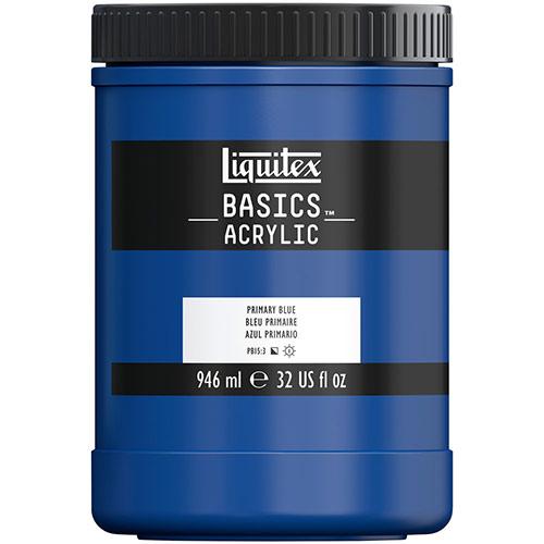 Liquitex Basics Acrylic Paint - (32oz/946ml) Primary Blue