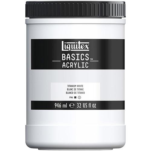 Liquitex Basics Acrylic Paint - (32oz/946ml) Titanium White