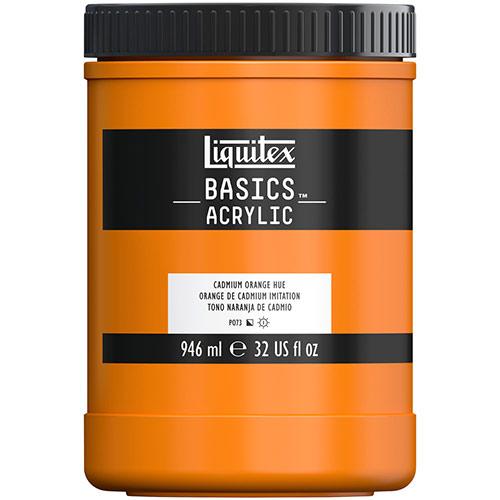 Liquitex Basics Acrylic Paint - (32oz/946ml) Cadmium Orange Hue