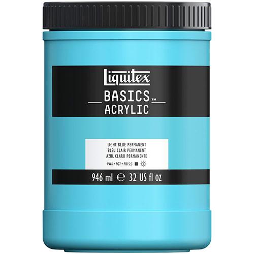 Liquitex Basics Acrylic Paint - (32oz/946ml) Light Blue Permanent