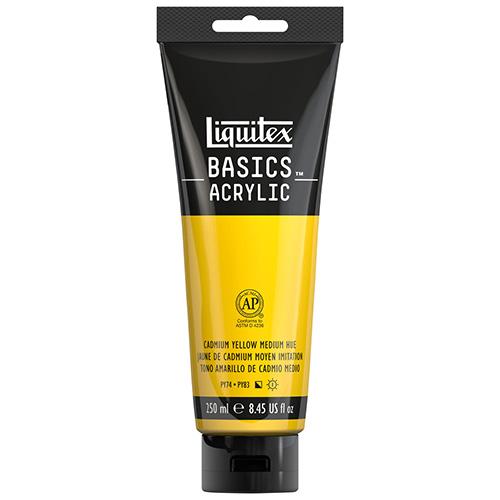 Liquitex Basics Acrylic Paint - (8.5oz/250ml) Cadmium Yellow Medium Hue