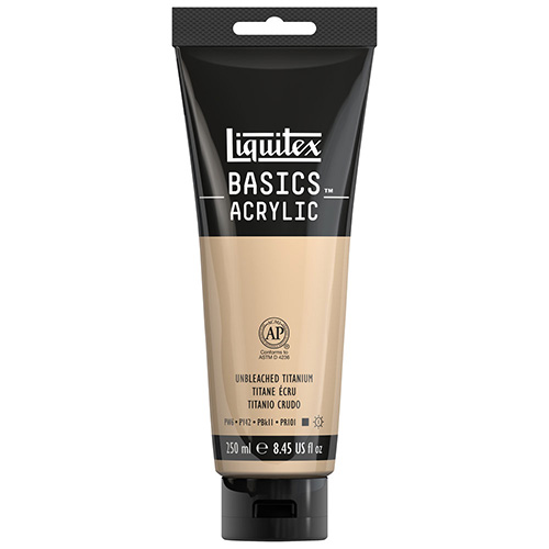 Liquitex Basics Acrylic Paint - (8.5oz/250ml) Unbleached Titanium