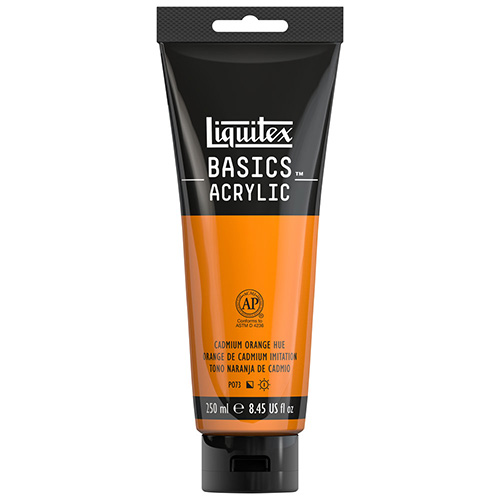 Liquitex Basics Acrylic Paint - (8.5oz/250ml) Cadmium Orange Hue