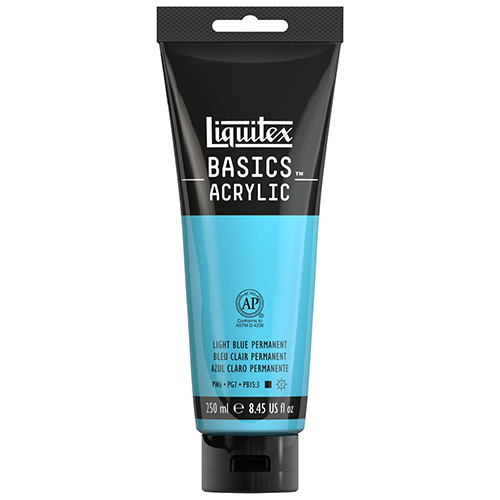Liquitex Basics Acrylic Paint - (8.5oz/250ml) Light Blue Permanent
