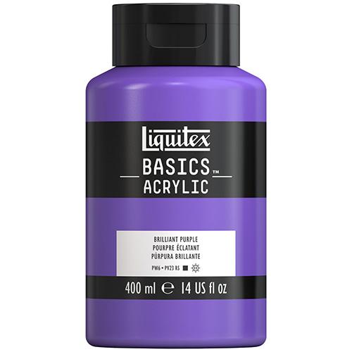 Liquitex Basics Acrylic Paint - (13.5oz/400ml) Brilliant Purple