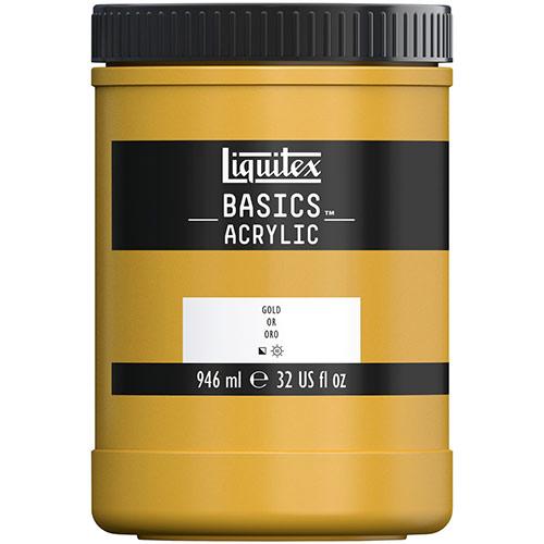 Liquitex Basics Acrylic Paint - (32oz/946ml) Gold