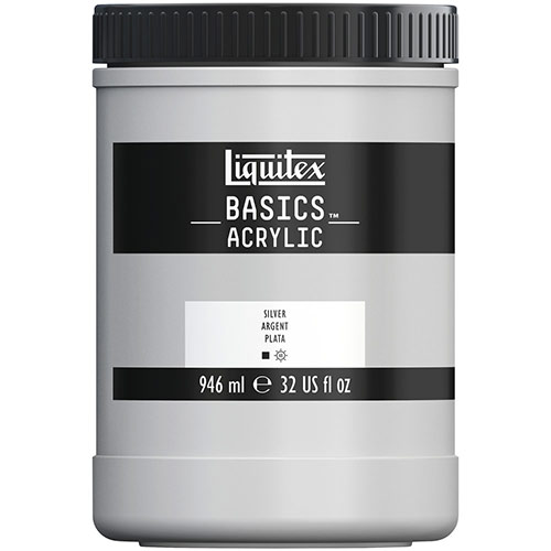 Liquitex Basics Acrylic Paint - (32oz/946ml) Silver
