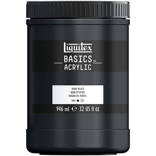 Liquitex Basics Acrylic Paint - (32oz/946ml) Ivory Black