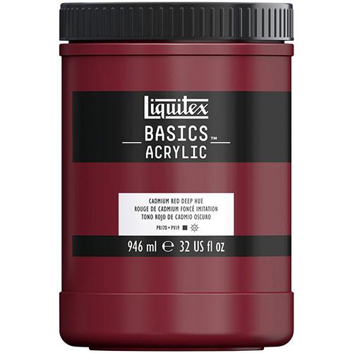 Liquitex Basics Acrylic Paint - (32oz/946ml) Cadmium Red Deep Hue