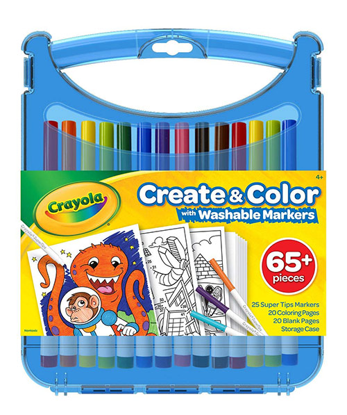 Crayola Create and Color Set - (65+ Pieces) Washable Markers
