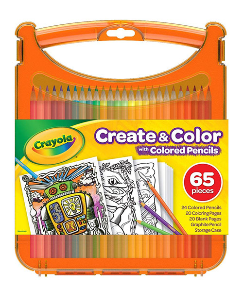 Crayola Create and Color Set - (65+ Pieces) Colored Pencils