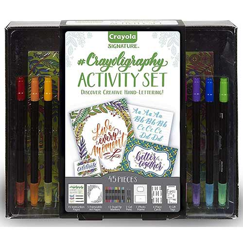 Crayola Signature Crayoligraphy Activity Set - (45 Pieces)