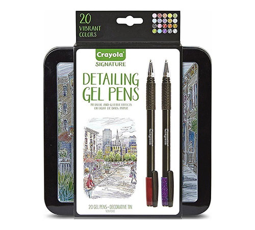 Crayola Signature Detailing Gel Pens with Tin - (20 Pack)