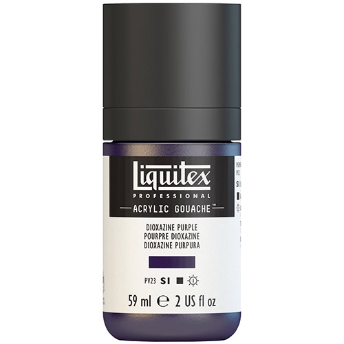 Liquitex Professional Acrylic Gouache Paint - (2oz/59ml) Dioxazine Purple